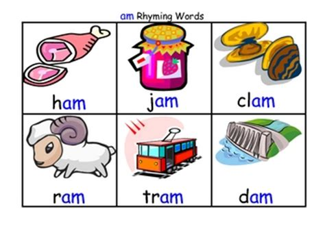 rhyming word flash cards with matching board by kate09 tpt
