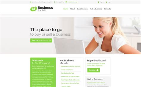 sell html templates business for sell website template 52717