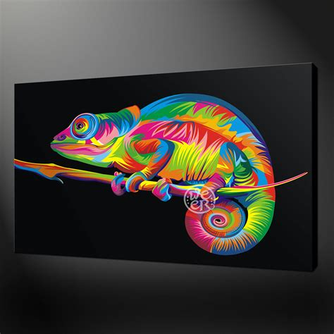 design art uk abstract chameleon quality canvas print picture wall art