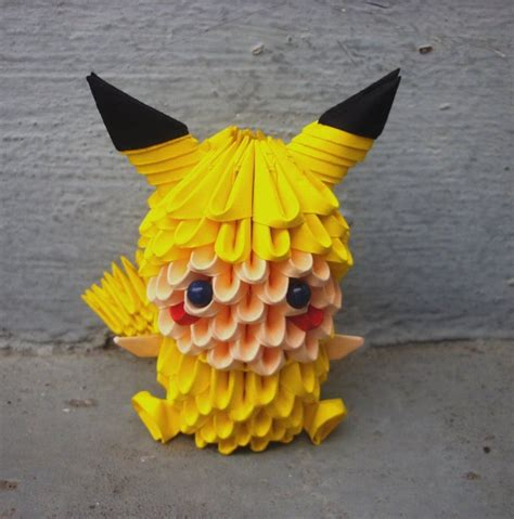 3d origami pikachu pikachu child 3d origami by sophieekard on deviantart
