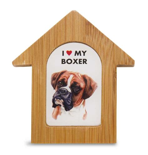 boxer dog house boxer wooden dog house magnet 3 5 x 3 in self standing