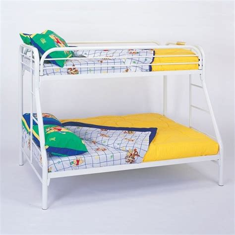 Metal White Bunk Beds Coaster Tracey Metal Bunk Bed In White