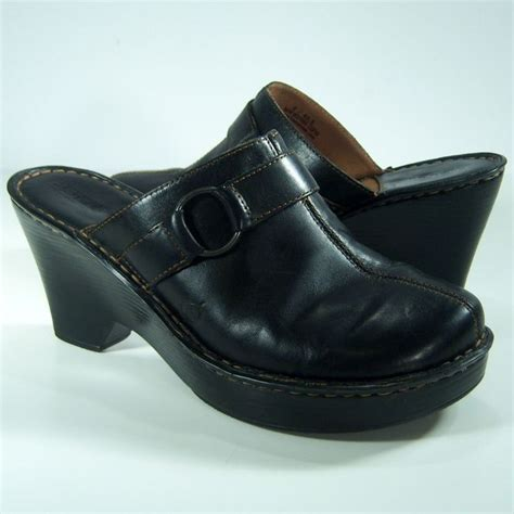 born clogs for born mules clogs slip on size 9 womens shoes black leather