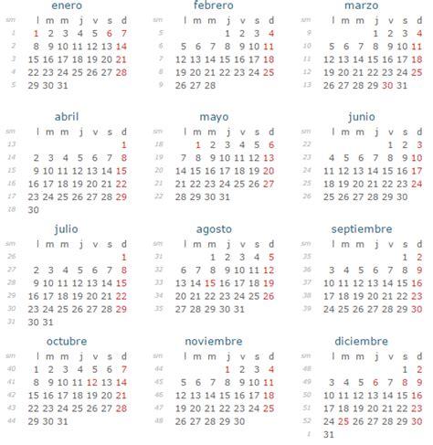 Calendario 2018 Español Calendario Con Festivos 2018 En Espa 241 A Calendario Con