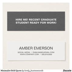 Business Cards For Recent Graduates