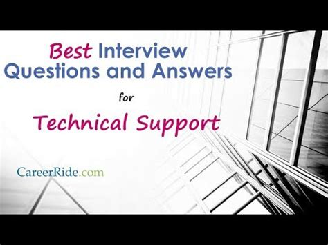 help desk interview questions and answers technical tech support foamy the squirrel