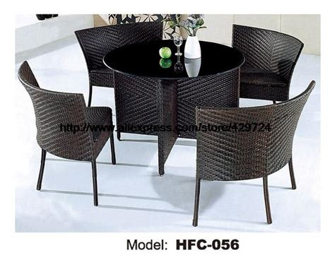 Hw885 Outdoor Leisure Rattan Furniture Low Price Rattan Furniture 1m Garden Rattan Table 4 Chairs