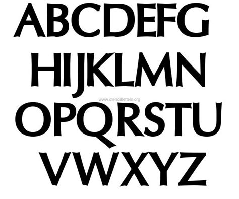 printable fonts stencils free 3 inch letter stencils printable letters font