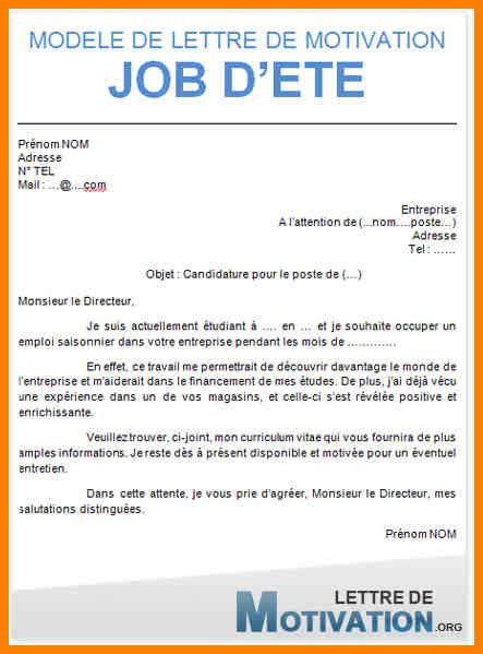 Exemple Lettre De Motivation Fast Food 11 lettre de motivation etudiant cv vendeuse