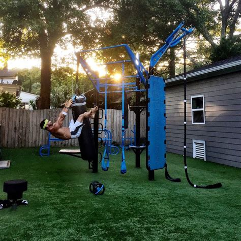 backyard gymnastics equipment 25 best ideas about outdoor fitness equipment on