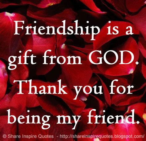 thank you for being my friend images friendship is a gift from god thank you for being my