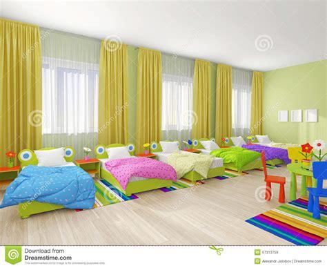 Yellow Bathroom Ideas bedroom interior in kindergarten stock photo image 57313759