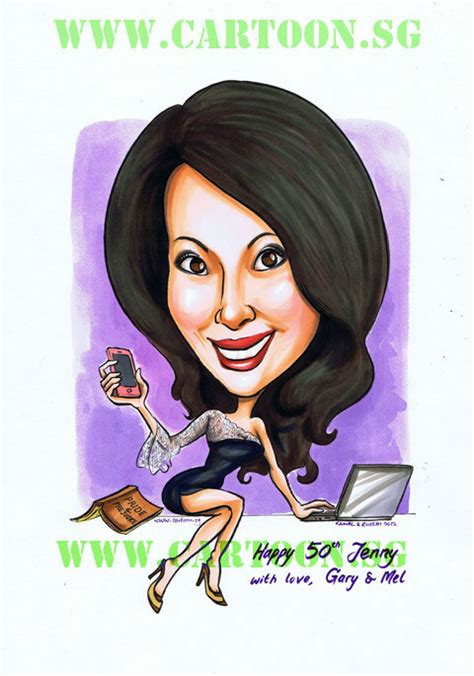 Corporate Gift Singapore cartoon sg singapore caricature artists for gifts