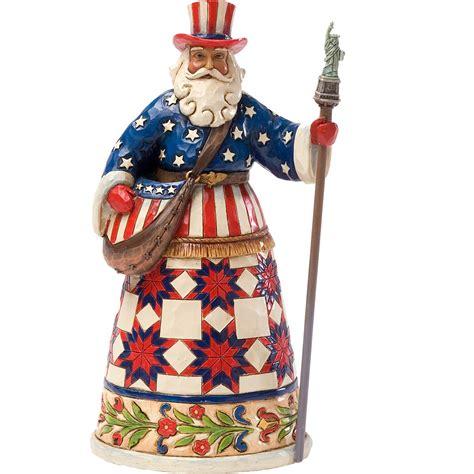 jim shore american santa figurine collectible figurines