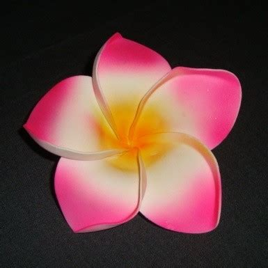 Jepit Rambut 2 Bunga Merah Pink bunga jepun pink 12cm