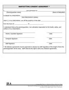 Babysitting Contract Template by 8 Best Images Of Free Printable Consent Forms