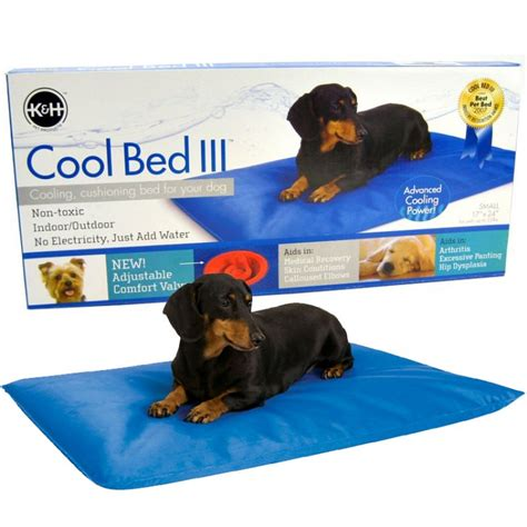 cool dog bed k h pet products k h cool bed lll blue cushion bed