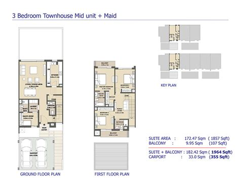 3 bedroom townhouse plans arabella 3 at mudon villas and townhouses by dubai