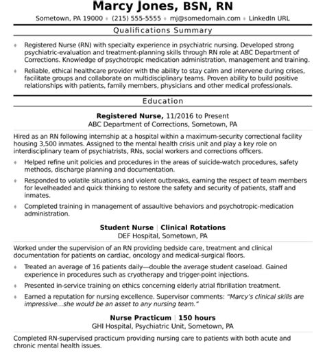 How To Make A Rn Resume by How To Write A Nursing Resume For A 2018 Market