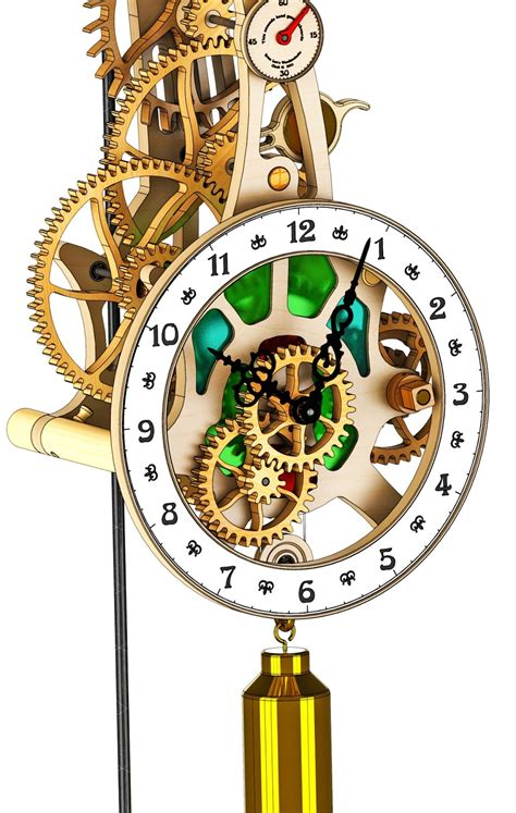 wooden clock plans dxf  woodworking