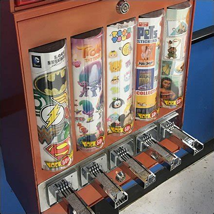 walmart tattoo gumball machine branded walmart fixtures up