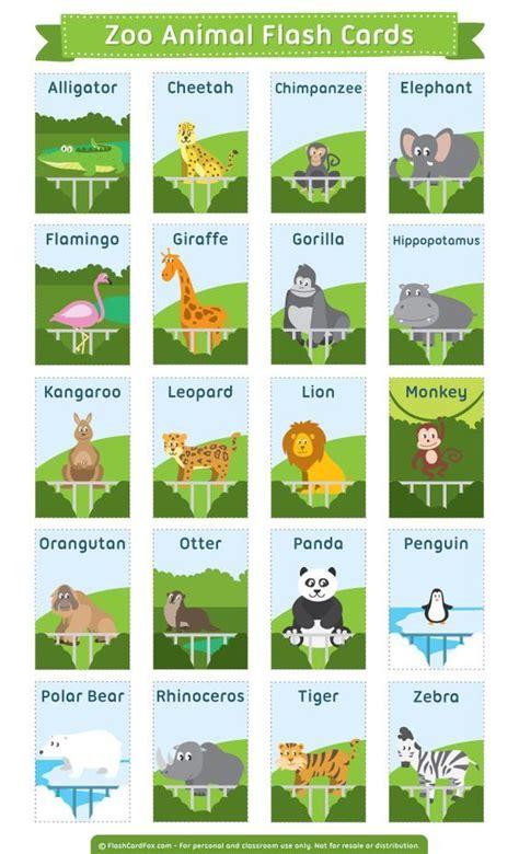 printable animal flash cards free printable zoo animal flash cards download them in