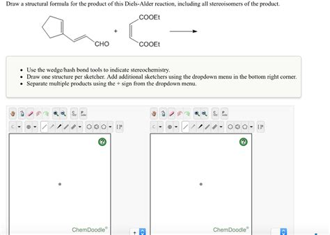 how to use chemdoodle solved draw a structural formula for the product of this