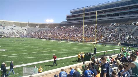 notre dame stadium bench seat notre dame stadium section 21 rateyourseats