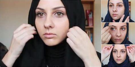 tutorial hijab makeup tutorial hijab dan makeup praktis hanya 5 menit vemale com