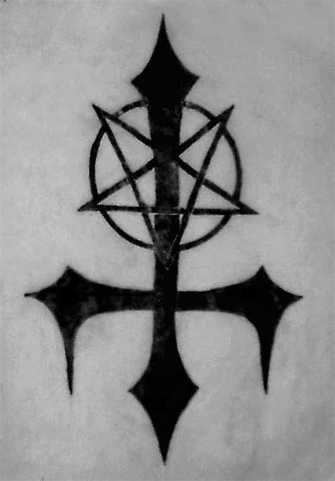 upside down cross tattoo pentagram clipart inverted cross pencil and in color