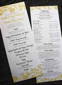 30 wedding program design ideas to guide your guest