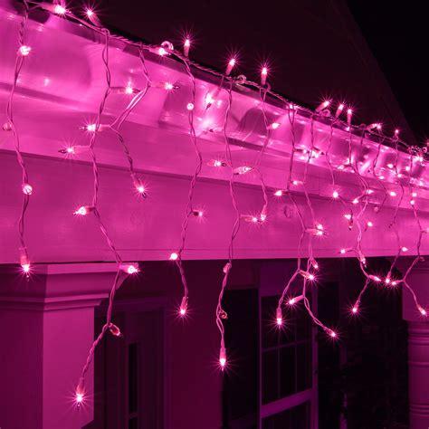 christmas icicle light  purple icicle lights white