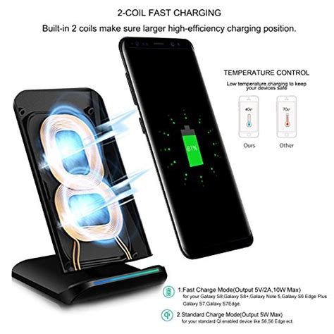 Promo Samsung Wireless Charger Stand Fast Charge Galaxy S7 Edge Bpd pleson fast wireless charger cell qi fast wireless charging import it all