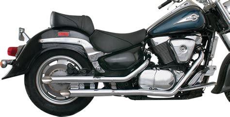 98 Suzuki Intruder 1500 Mac Slashcut Staggered Exhaust System Suzuki Intruder