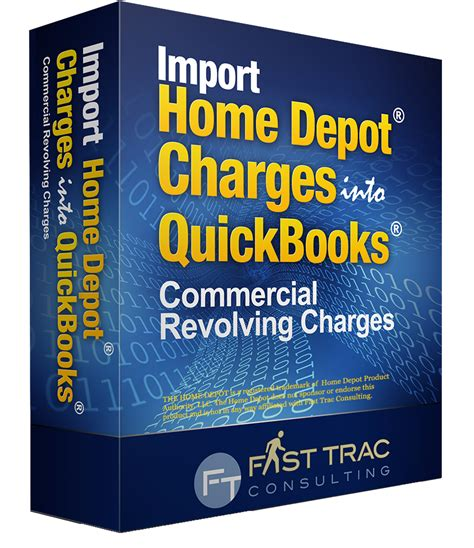 home depot credit card home depot quickbooks import file