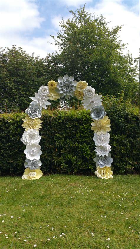 Wedding Arch Gold by Paper Flower Arch Wedding Arch Flower Arch Wedding