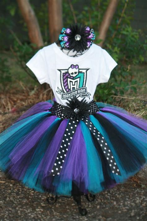 Monster High  Ee  Birthday Ee   Piece Set Embroidered Shirt