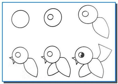 Easy Drawing For Kids Step By Step Birds Drawing Tutorial How To Draw Painting And Drawing Easy Drawings For Toddlers