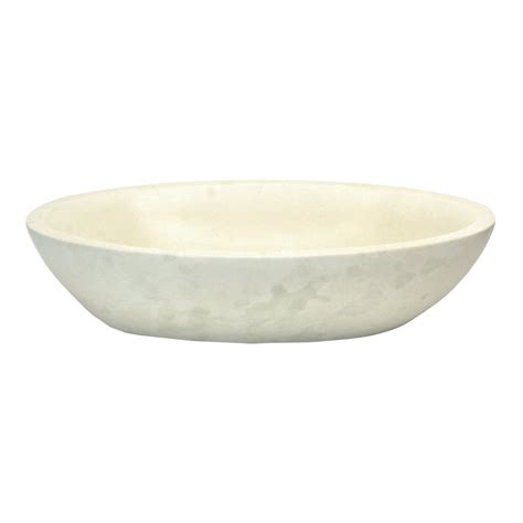 stone vessel bathroom sink shop eden bath white stone vessel oval bathroom sink at