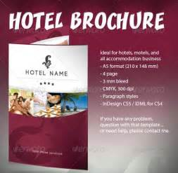 Hotel Brochure Templates by 10 Hotel Brochure Design Templates Wakaboom