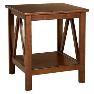 titian end table brown linon target