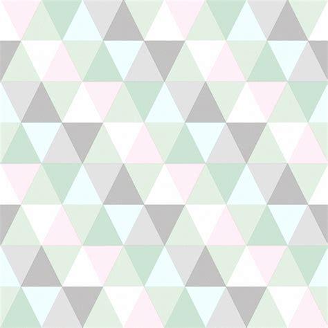 mintgrün teppich esta home vliestapete triangle mint rosa grau bei