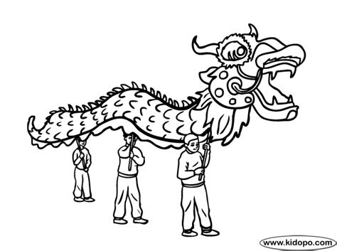 chinese new year ink coloring page