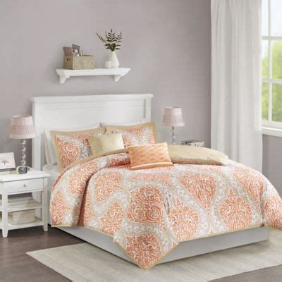 orange coverlet king buy orange comforters from bed bath beyond