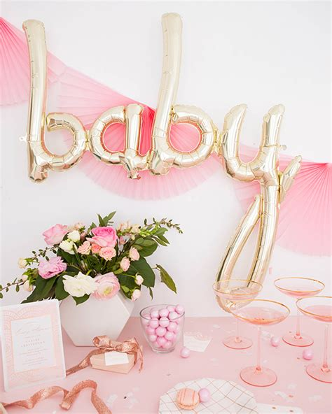 rose themed baby shower rose gold themed baby shower styled by oh happy day gold