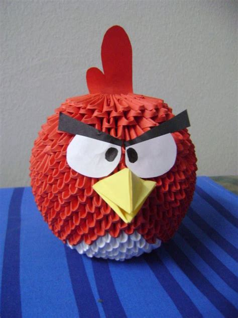 Origami Angry Birds - angry birds album meshell 3d origami