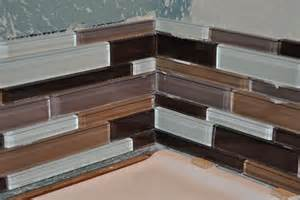 how to install a glass tile backsplash in the kitchen how to do backsplash corners home design ideas