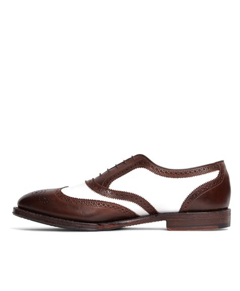 brothers spectator wingtips in brown for lyst