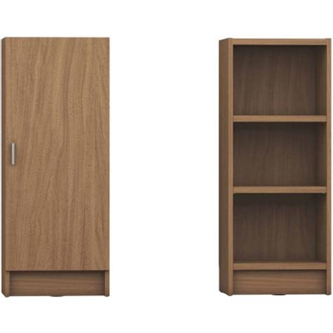 Manhattan Comfort Greenwich 3 Shelf Narrow Tall 2 0 3 Shelf Bookcase With Doors