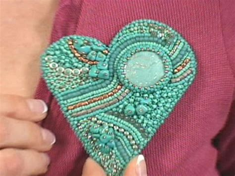 Embroidery Handmade - how to make a bead embroidered brooch hgtv